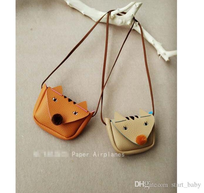 10 teile / los Mode Baby Mädchen Geldbörsen Handgemachte Kinder Geldbörsen Handtaschen Mädchen Fuchs Tasche Nette taschen C001