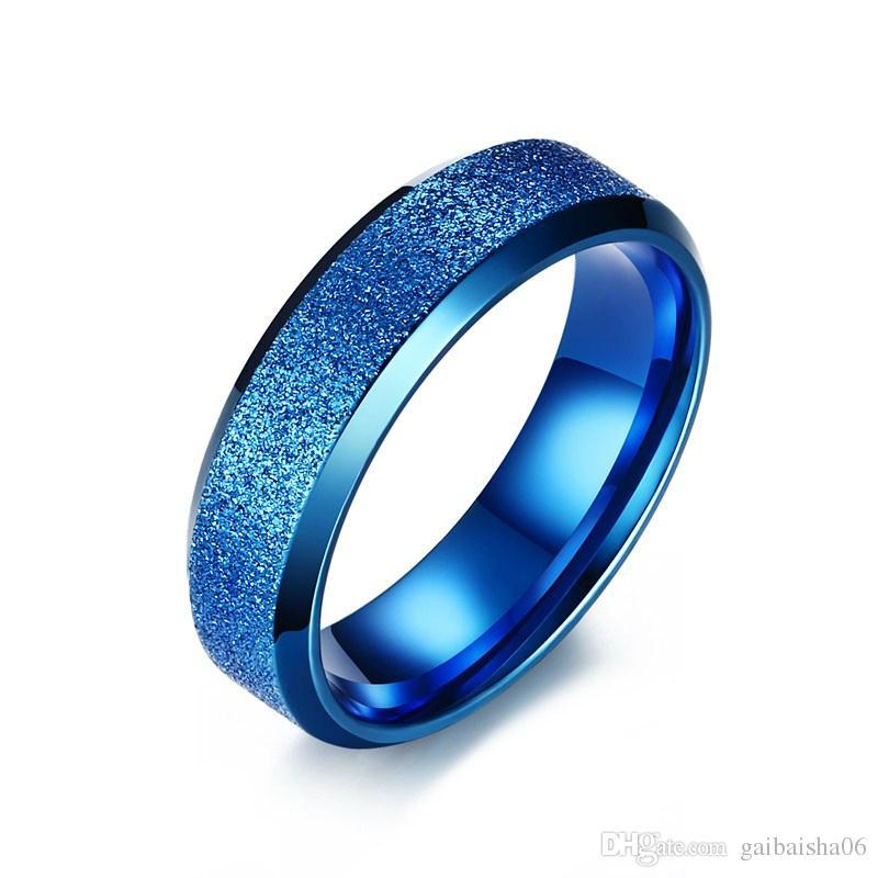 Edelstahl Ringe für Frauen Männer Vergoldet Dumme Ring Schmuck 6mm breit 3 Farben R-278