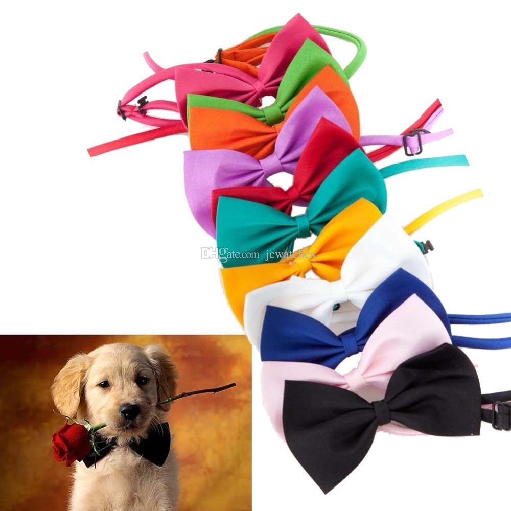 Adjustable Pet Dog Bow Tie Cat Necktie Cheap Wholesale Cute Children Tie Dog Clothing Apparel Accessories