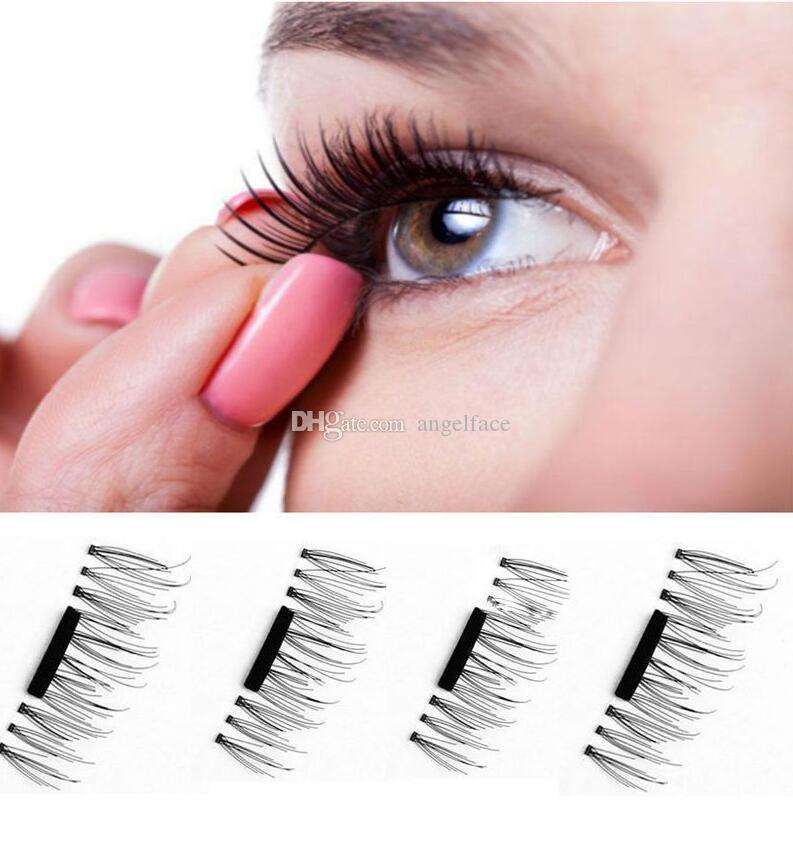 Reusable Magnetic Eye Lashes 3D False Magnet Eyelashes Extension 3D Fake Eyelashes magnetic eyelashes =with retail package
