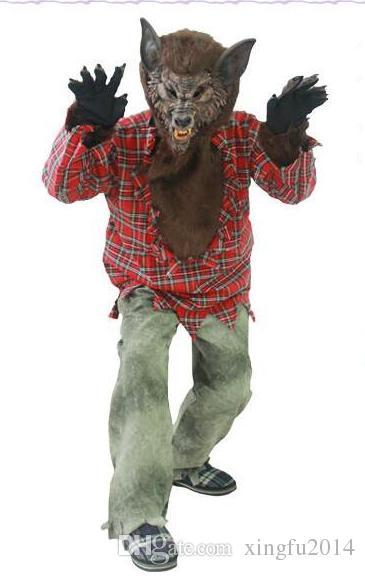 Halloween Costumes Adult Male Bar Horror Werewolf Dress Up Cosplay ...