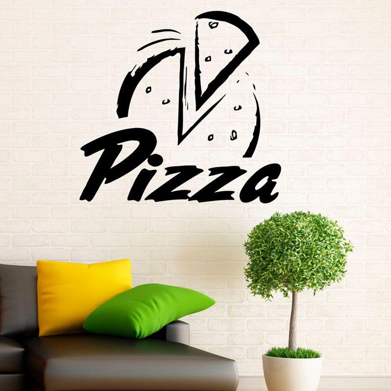 pizzeria wall sticker pizza restaurant decoration wall decals vinyl