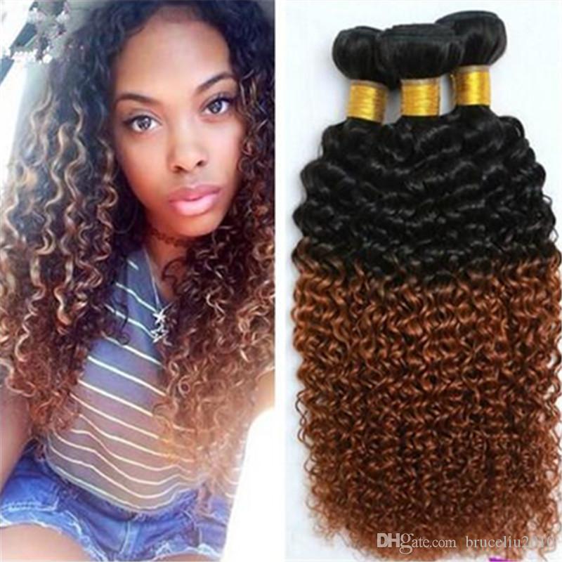 1b 30 Mongolian Kinky Curly Afro Kinky Hair Weave Bundle Unprocessed