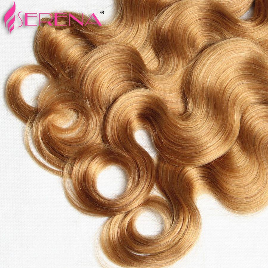 60% de réduction! Miel Blonde Extensions Péruvienne 10