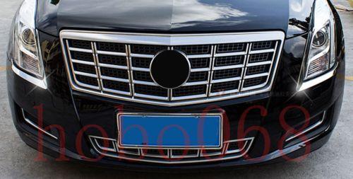 وتغطي السيارات سيارة 304 الفولاذ المقاوم للصدأ أضواء الجبهة الحاجب الإطار تريم لكاديلاك XTS 2013-17