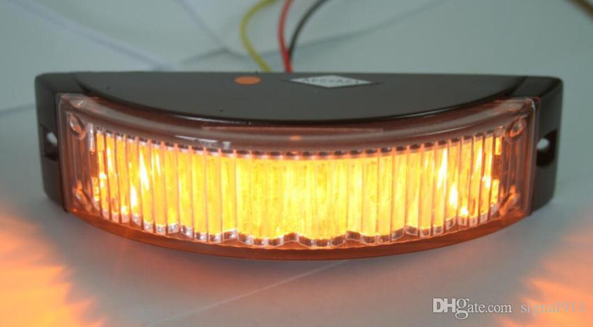 DC12V / 24V 8W Auto Aufputzmontage Warnlicht, Grill Leuchten, LED-Blitzlicht, 19flash, wasserdicht, / 1lot