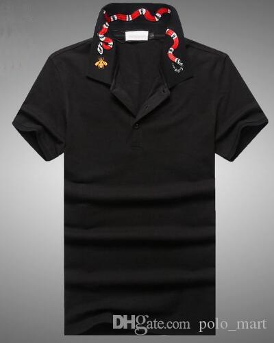 Solid Italia Polo Shirt Men Summer Cotton Snake Printed Collar POLO Shirts  Brands Short Sleeve Camisas Polos Polo Shirt Online with  47.91 Piece on ... 670a320e3e56