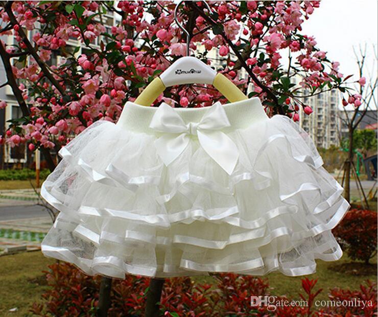 2018 nuovi bambini coreani di stile 150cm alti 3-8T bolla gonna gonna gonna performace danza garza velo gonna delle ragazze