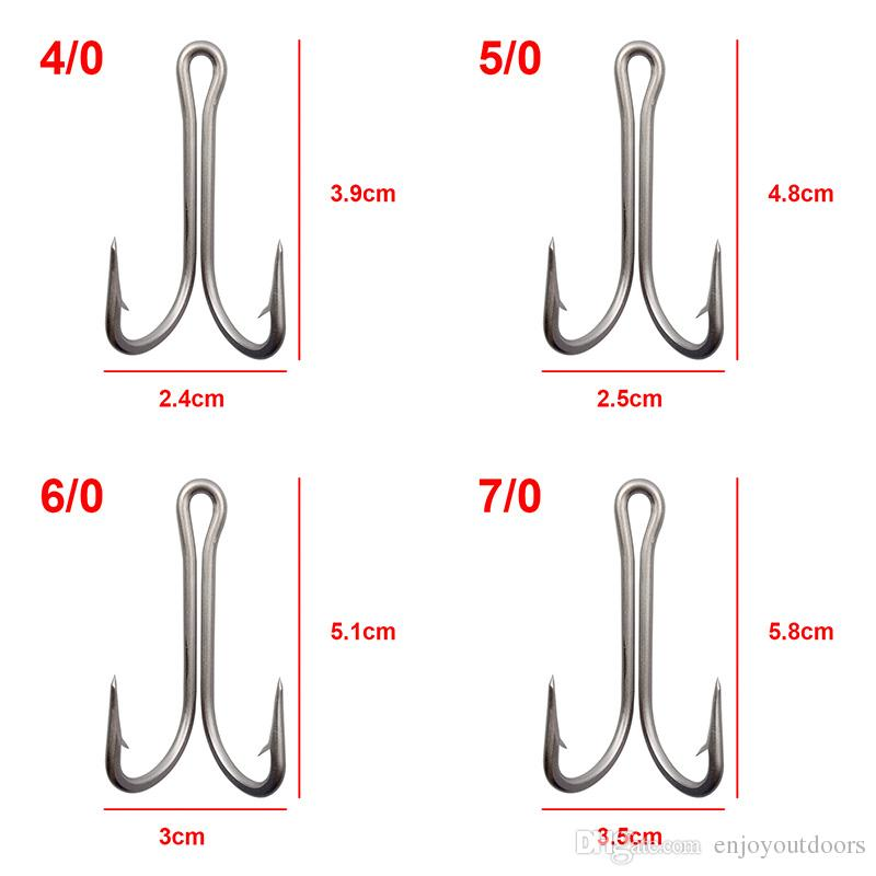 7982 Stainless Steel Double Fishing Hooks Big Strong Sharp Double Fishing Hook with big Size