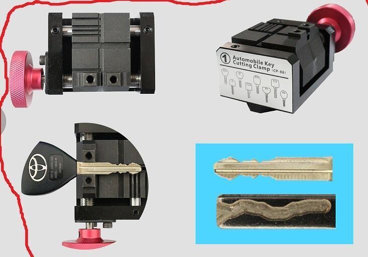 2017 automatic 2 Clamp + Original Sec E9 Laser Key Cutter ,Locksmith key cutter, Auto Locksmith Tool ,SEC-E9 automatic key cutting machine