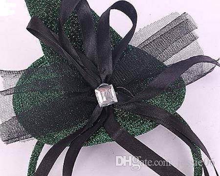 Halloween diable chapeau de sorcière bandeau Carnaval Mini chapeau haut de forme paillettes fascinateur Angel bande de cheveux poule partie COS déguisement accessoire vert faveur