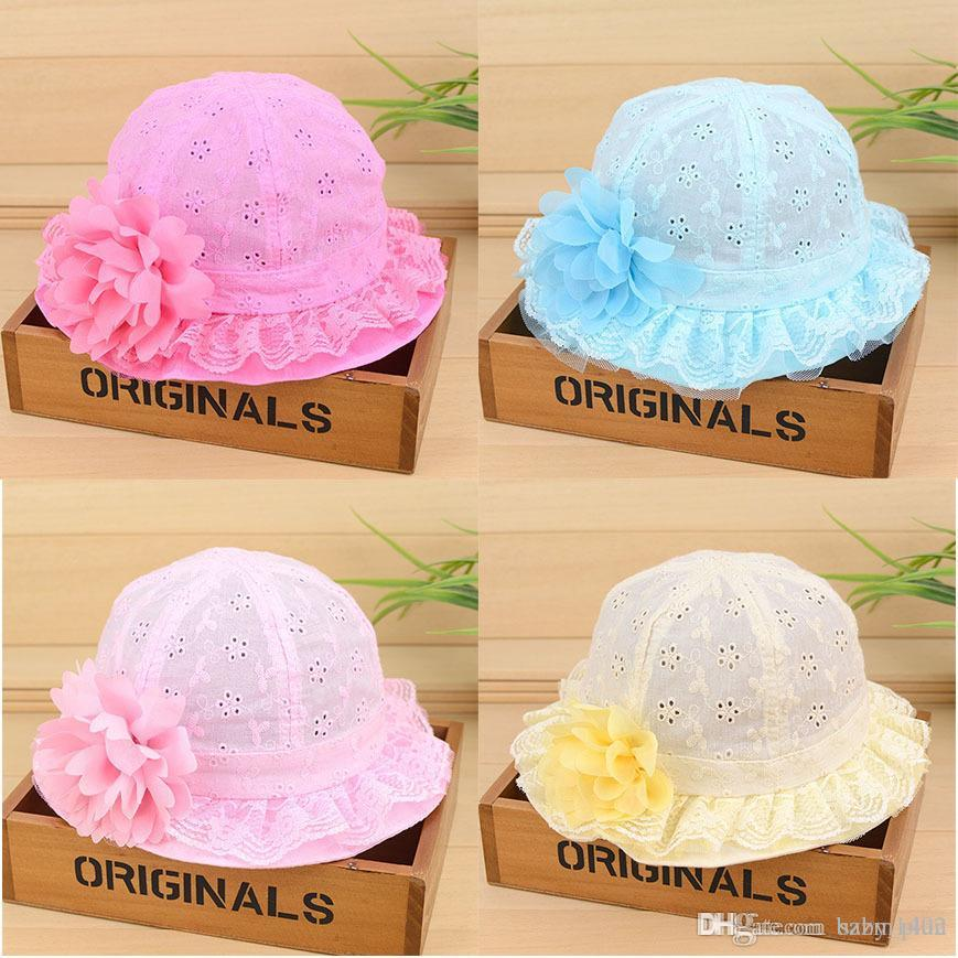 a540cf8e2dd6b 2019 Girl Bucket Hat Cap For 7 24 Months Baby Girls Lace Flowers Hats Style Kids  Toddler Go Fishing Hats Spring Summer Floppy Chapeau From Baby plan