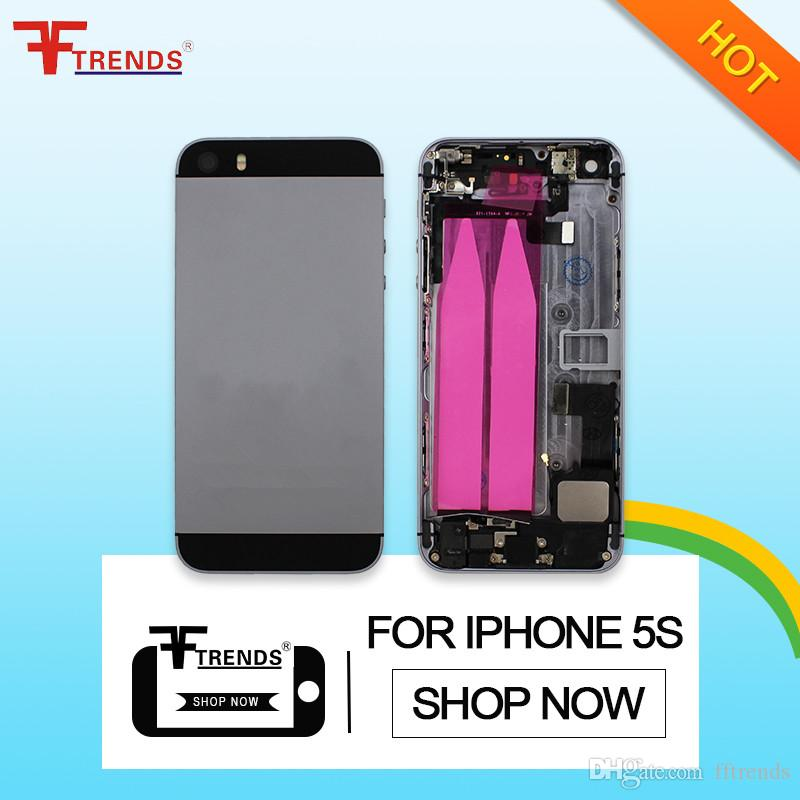 eb9486419 2019 Alloy Metal Replacement Battery Housing Back Cover Case For IPhone 5S  With Side Buttons Small Parts Full Assembly From Fftrends