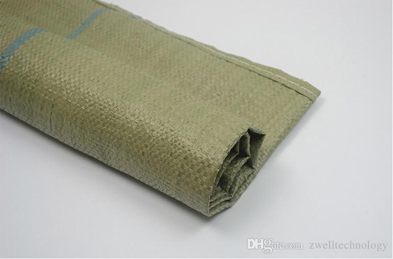 Bolsas tejidas de plástico amarillo grandes Bolsas exprés de entrega para logística de empaquetado universal y materiales de construcción Empaquetado 100 * 125 personalizado
