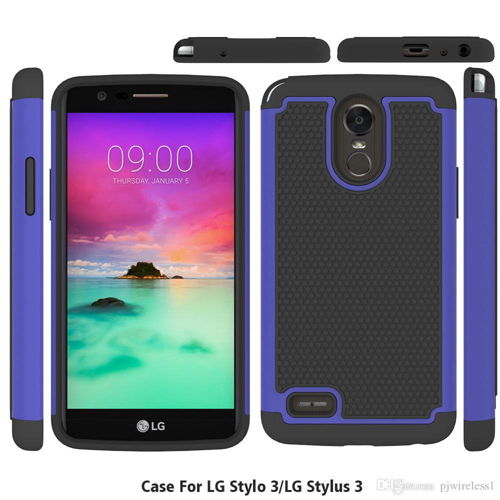 lg stylo 3 plus case. Cool For Lg Stylo 3 Stylus Plus Armor Case Shockproof Hybrid Rubber Football Skin Hard Back Cover Customize Phone Cases Mobile From Pjwireless1