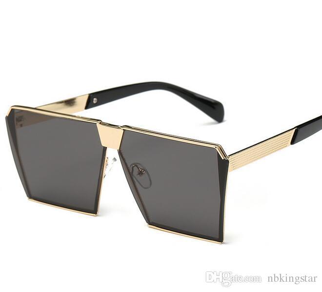2017 New Style Women Sunglasses Unique Oversize Shield UV400 Gradient Vintage Eyeglasses Brand Designer Sunglasses