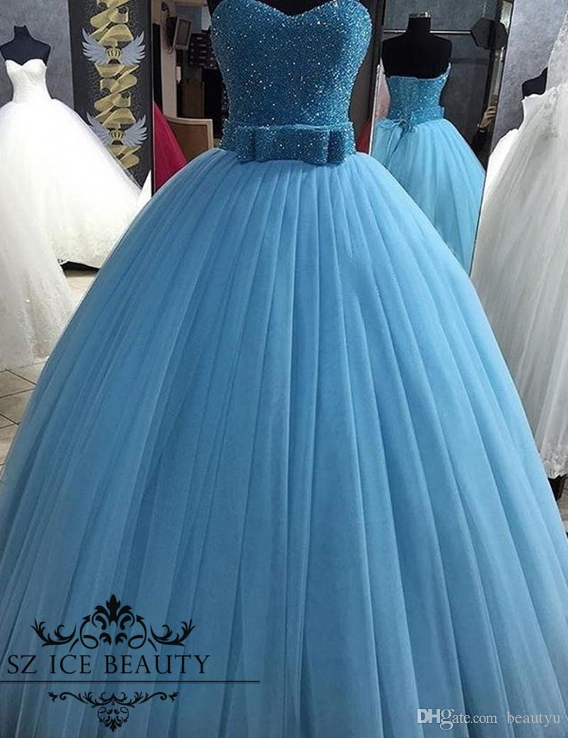 Major Beaded Puffy Sweet 16 Dresses 2017 Plus Size Pleat Ball Gown ...