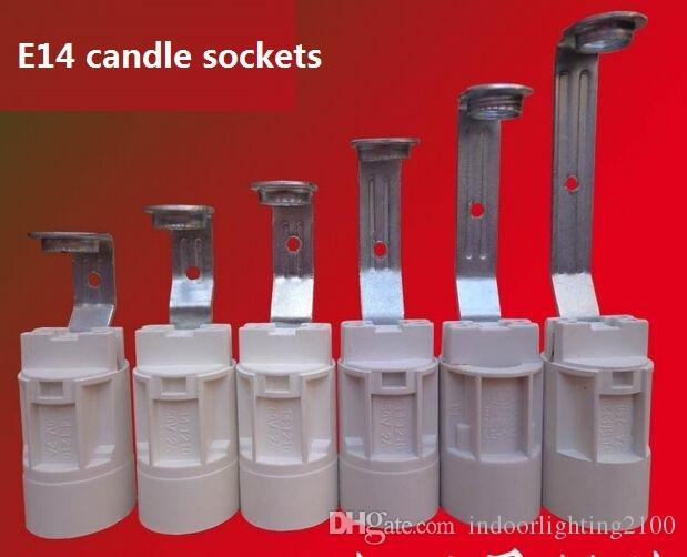 E14 Screw Small Candles Lamp Holders/Base Crystal Pendant Bulbs Sockets with Wire Lighting Accessories Spare Parts