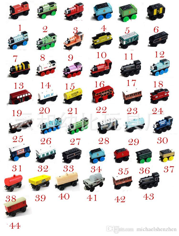 Wooden Small Trains Cartoon Toys 70 Styles Friends wooden Complete set of car toy train toys =