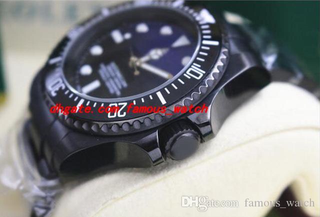 Neue Art- und Weiseluxusarmbanduhr NEUE HERREN-EDELSTAHL-KERAMIK-SCHWARZES / BLAUES Vorwahlknopf # 116610 44MM automatische Bewegungs-Mann-Uhren Spitzenqualität