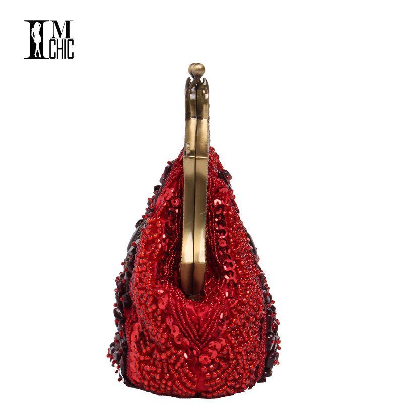 Women Evening Party Bags Luxury Beads Clutch Handmade Vintage Elegant Phone Purse Banquet Wedding dress Handbags Bridal Gifts