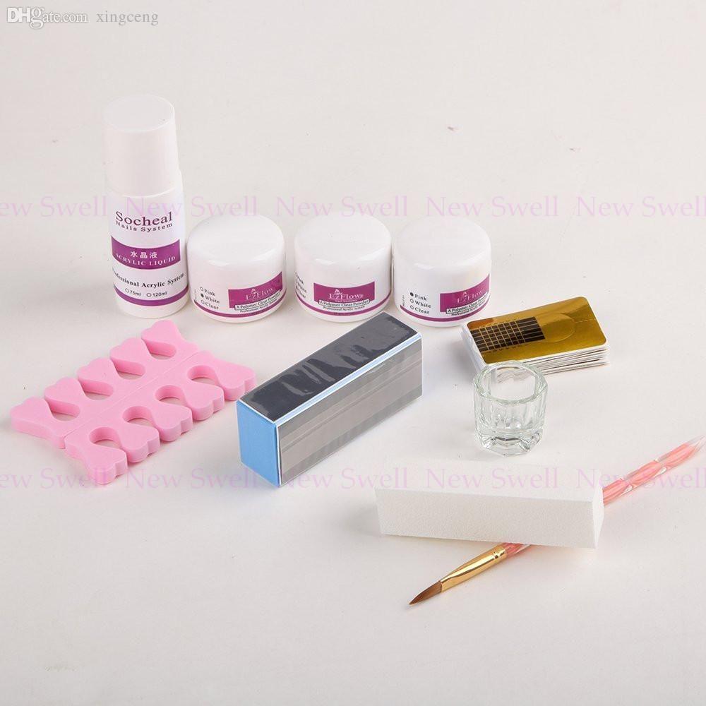 Wholesale Nail Kit Acrylic Powder Liquid Nail Art Brush Nail Form ...