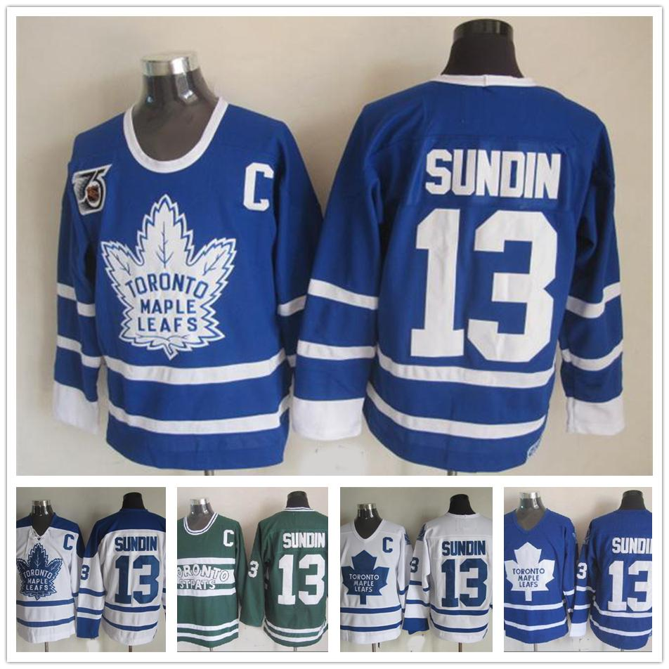 ebd5a2b9f 2019 Cheap Toronto Maple Leafs 13 Mats Sundin Hockey Jerseys Vintage  Classic 75th Anniversary Mats Sundin Jersey Blue White C Patch M XXXL From  Fans_edge, ...