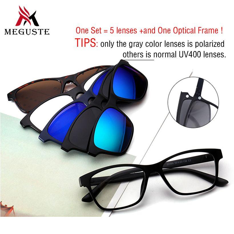 8458fe0348 2019 New 2017 Magnet Sunglasses Clip Magnetic Blue Mirrored Clip On  Sunglasses Men   Women Polarized Sunlgasses Clips Custom Prescription.