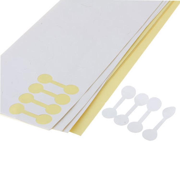 50 صفحة الأبيض جولة الدائري مجوهرات ملصق سعر التجزئة مجوهرات التسمية حجم عرض علامة ذاتية اللصق ورقة بيضاء دمبل التسميات ذاتية اللزوجة