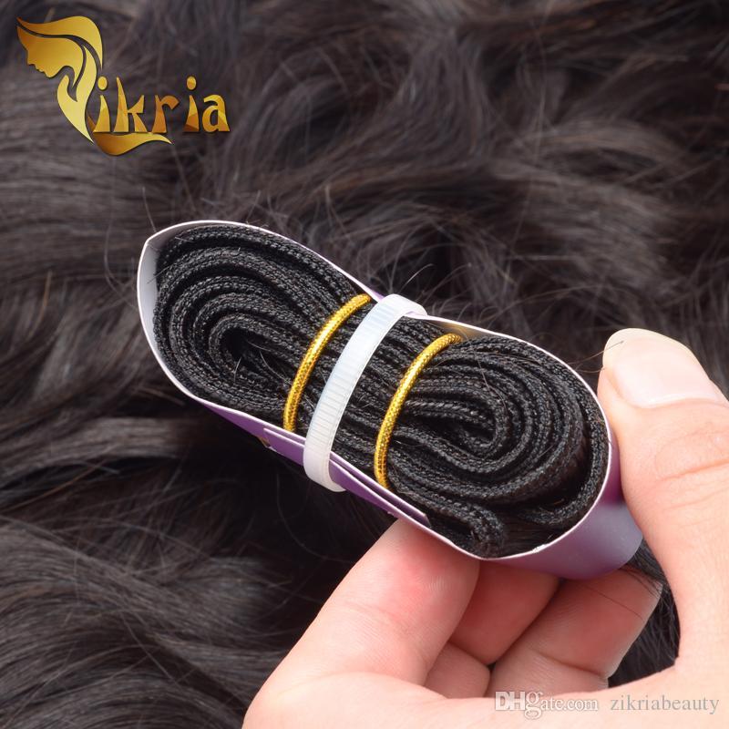 Natürliches Wellen-Haar spinnt brasilianisches Jungfrau-Menschenhaar-Einschlagfaden-indisches malaysisches peruanisches Haar 3 Bündel natürliche schwarze Farben-Bündel