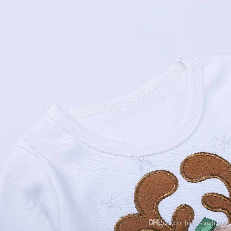Vêtements de bébé de Noël Vêtements pour enfants Sets filles manches longues T-shirt robe + Polka Dot Leggings Pantalons deux pièces Costumes Tenues Noël Kid