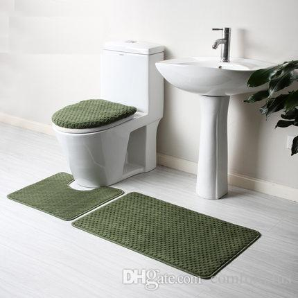 bathroom carpet. Solid Color Bathroom Rug Set Toilet Cover Foot Mat Floor Anti Slip To  Choose From Dealers Shaw Carpet Prices Comfortplus 33 17 Dhgate Com