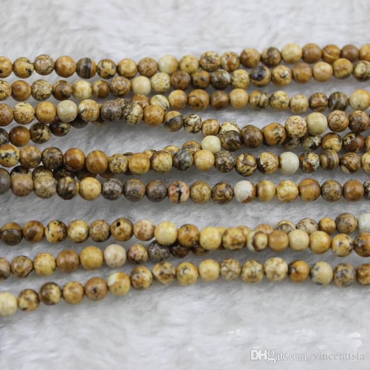 Naturstein Spacer lose Perlen braun Indien lange Halskette Armband Männer machen Modeschmuck Erkenntnisse Bijoux