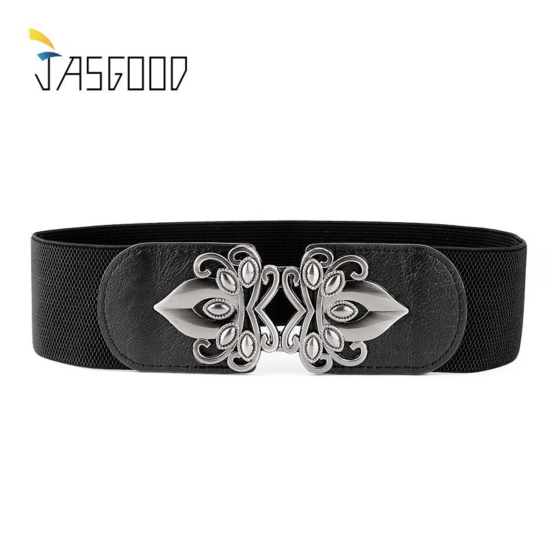 5d258033cbd Wholesale JASGOOD Women Vintage Wide Elastic Belt Stretch Waist Belt ...