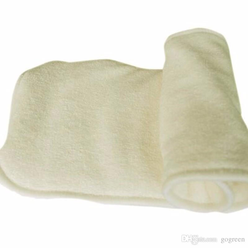 NaughtyBaby Natural Bamboo 4 Layers 2+2 Washable Baby Cloth Diaper High Quality Organic Nappy inserts