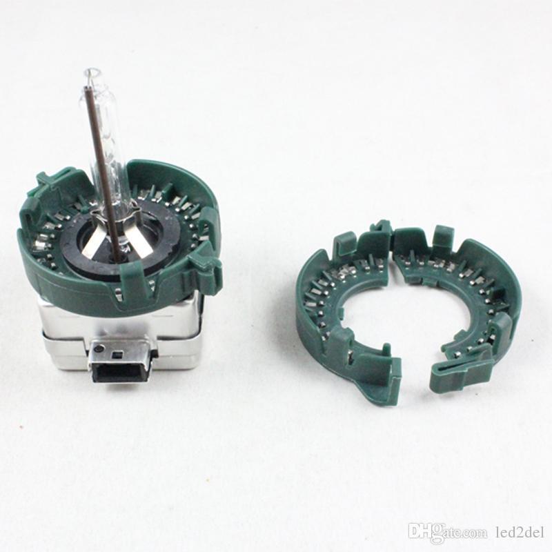 D1S D1R D1C D3S HID Portalampada xenon Base in metallo Fermo anelli di ritegno adattatore auto Testa lampade
