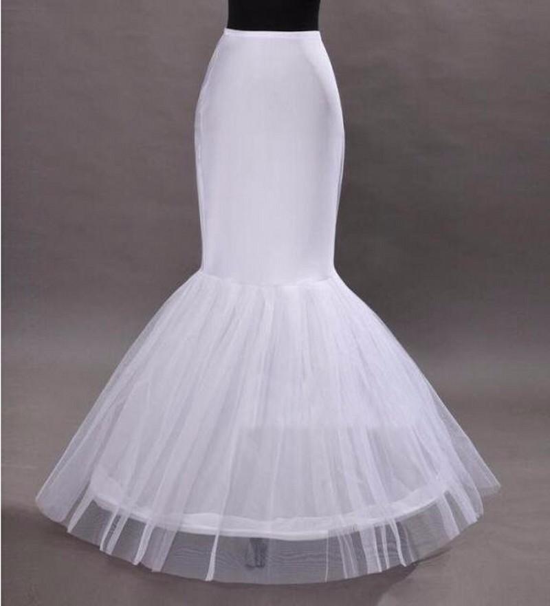 El envío libre de señora Girl 2017 al por mayor de accesorios de la sirena de la enagua del aro 1 Bone elástico vestido de novia de la crinolina de la trompeta