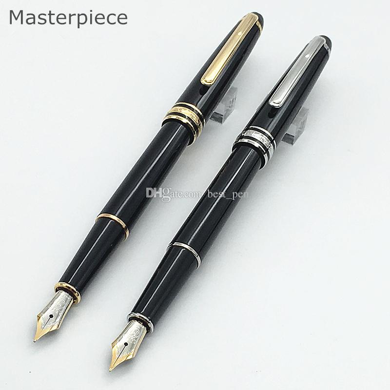Stylo de luxe chef-d'œuvre 163 164 résine noire classique fontaine écriture stylo 4810 stylo convertisseur encre