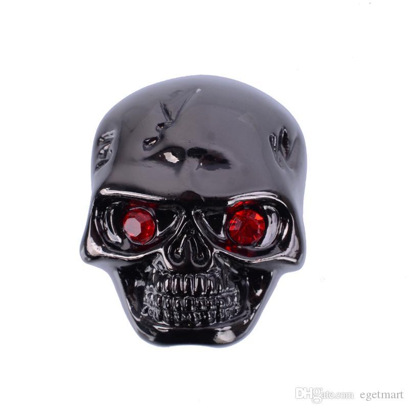 3 pezzi / lotto Cool Skull Head Tone Control manopole pulsanti parti di chitarra elettrica nero / oro / cromato
