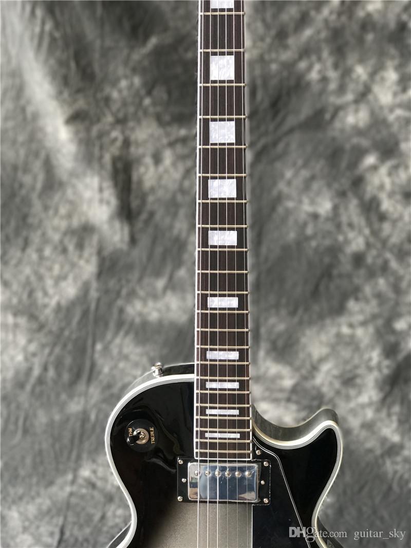 Nuovo arriva Custom Shop Silverburst Electric Guitar, chitarra Silver Burst di alta qualità, Real foto mostra, tutti i colori sono disponibili