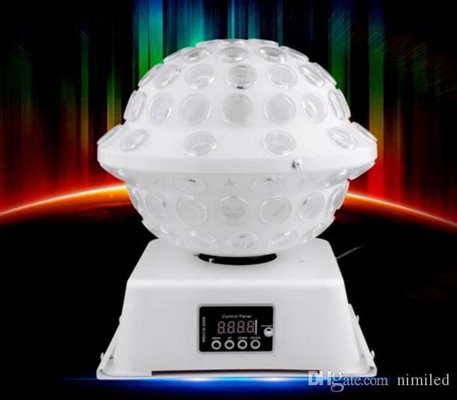 DJ Stage Studio Effetti speciali di luce Cambiamento di colore RGB 360 Luci a LED rotanti Magic Equipment System Disco Ball LLFA