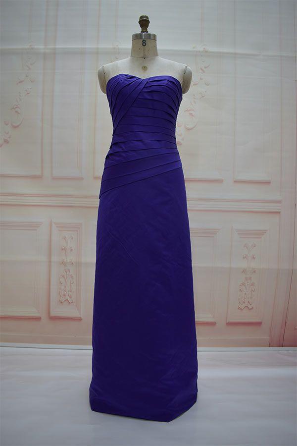 f2078bf5c Robe à bretelles violette Eggpant, robe violette longue pour œuf, robes de  soirée pour femmes