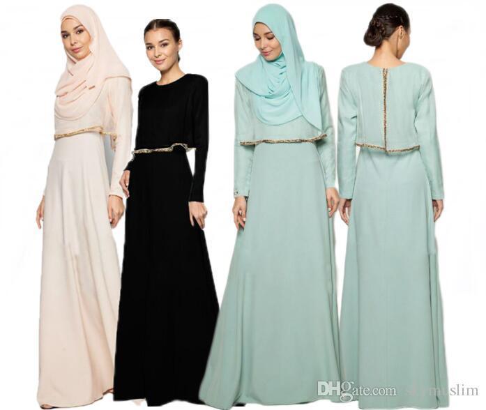 Abaya Dress Muslim Women Arab Southeast Asia Maxi Abaya Islamic ...