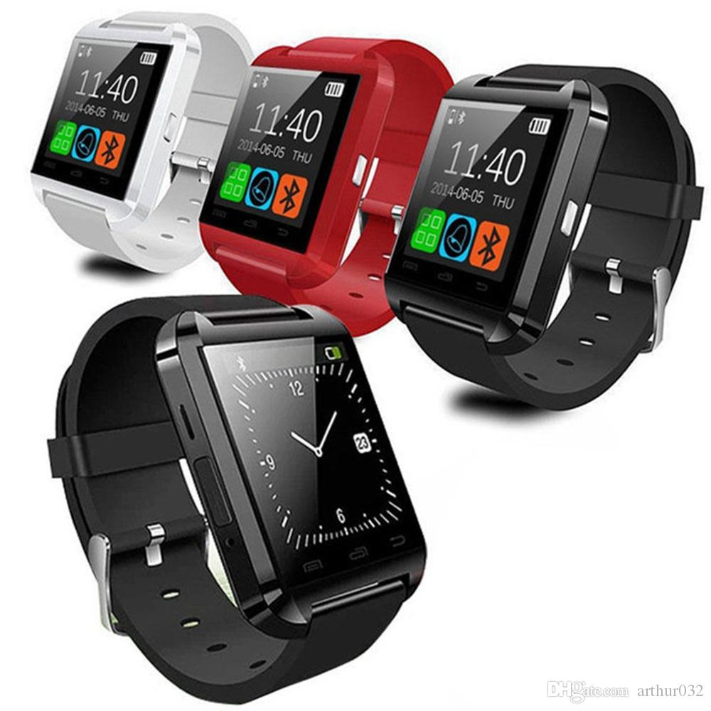 U8 Bluetooth Smart Watch U Relojes Reloj de pulsera táctil Reloj inteligente Reloj para iPhone 4 4S 5 5S Samsung S4 S5 Nota 3 Teléfonos HTC Android Teléfono Smartphones