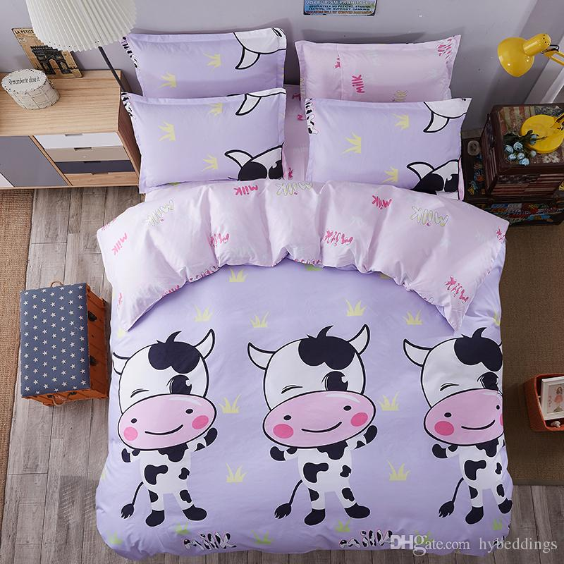 Cute Cow Bedding Sets Cartoon Comforter Set Single Double