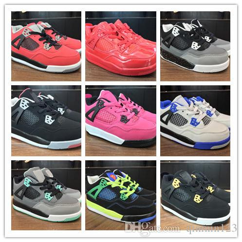 9910dde7fb4a30 New Kids Basketball Shoes 4 Boys Baby Sneakers Red Black White Blue ...
