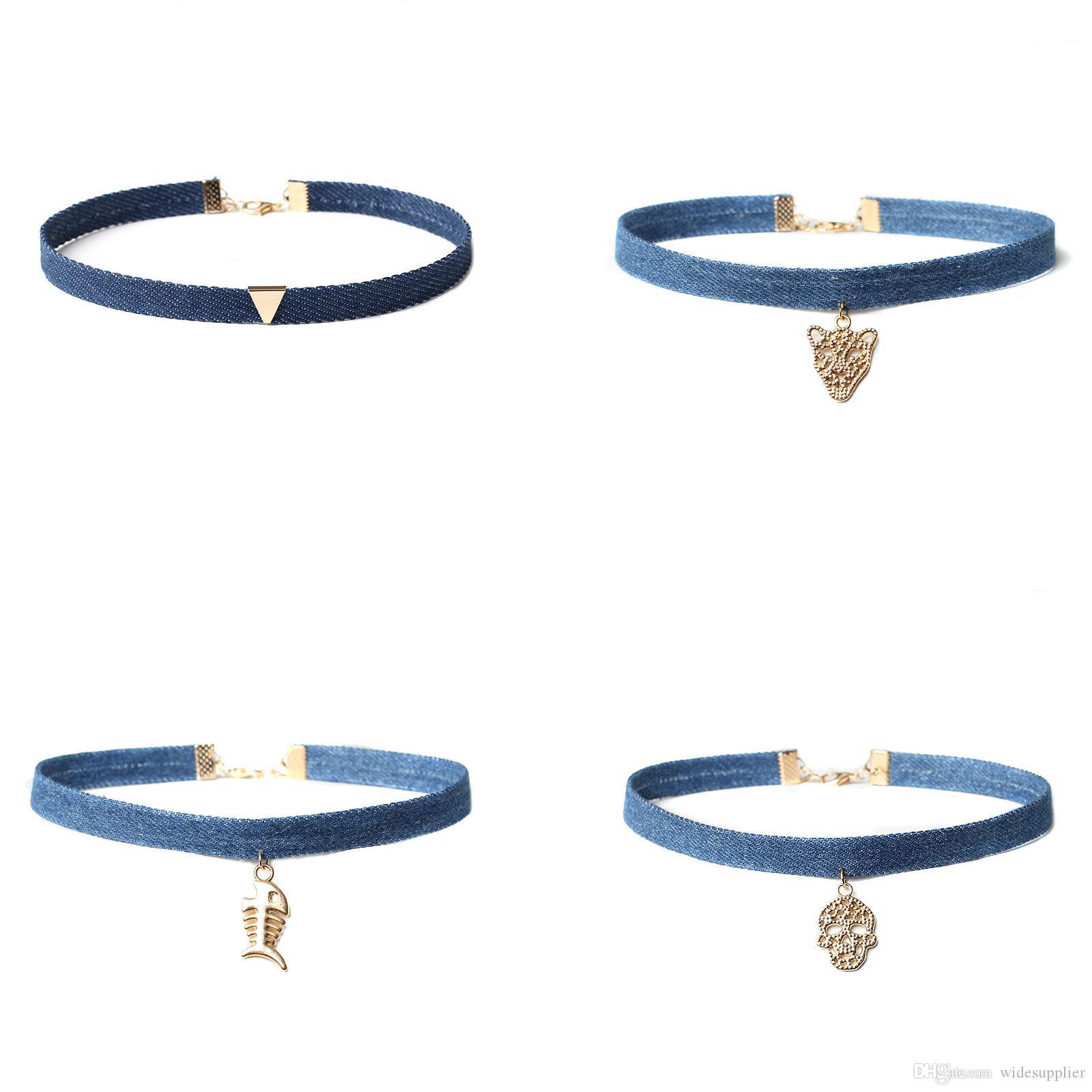 47 Arten Hot Choker Aussage Halsketten 2017 Harajuku Persönlichkeit Modelle Multilayer Spitze Mode Halsketten Halsreifen Fabrik Preis