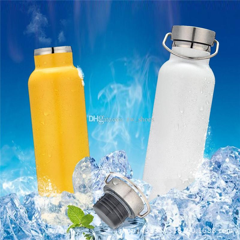 DHL & SF 20oz Stainless Steel Sports Water Bottle Vacuum Insulated FLASK Leak & Sweat Proof Standard Mouth with Screw Cap