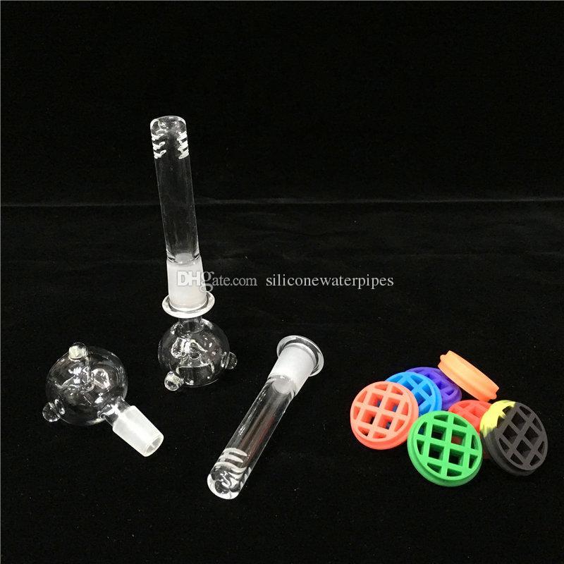 실리콘 봉 DAB 장비 파이프 흡연 기억 만 9.5 인치 14.mm 공동 유리 10 색 수도관 깨지지 기억 만 버블 파이프 설정