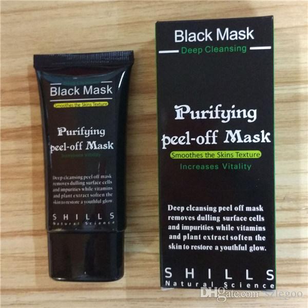 Best SHILLS Purifying Peel-off Mask Shills Deep Cleansing Black Shills Face Mask Pore Cleaner 50ml Blackhead Facials Mask